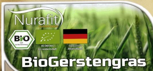 Reines BIO Gerstengras-Pulver