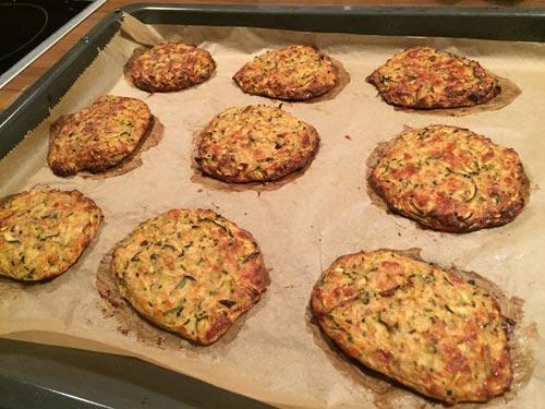 Low Carb Zucchini Röstis
